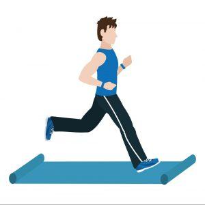 مرد در حال ورزش برای رشیدن به وزن ایده آل